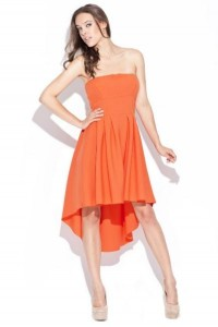 Vokuhila kleid orange